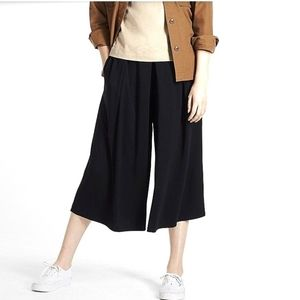 Uniqlo Jersey Cropped Flare Wide Pants